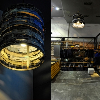 DUDE LRS JEAN DEALERS store custom lamp